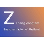 A modification of climate data to the seasonal factor (Zhang constant) of Thailand