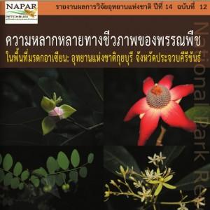 ความหลากหลายทางชีวภาพของพรรณพืช : อุทยานแห่งชาติกุยบุรี