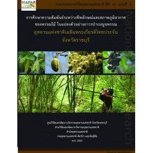 Phenology and Climate Change in Case of Mixed Deciduous Forest, Chaloem Prakiat Thaiprachan NP.